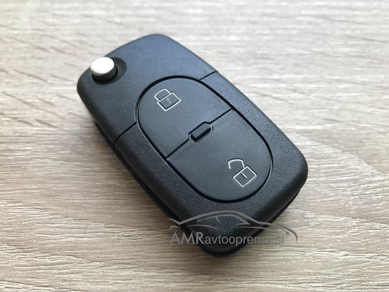 Ohišje za zložljive ključe Audi z dvema gumboma