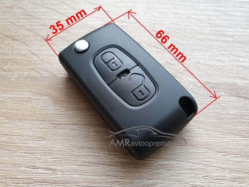Ohišje za zložljive ključe Peugeot 4007