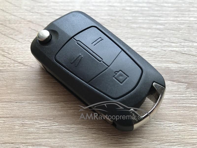 Ohišje za zložljive ključe Opel s tremi gumbi