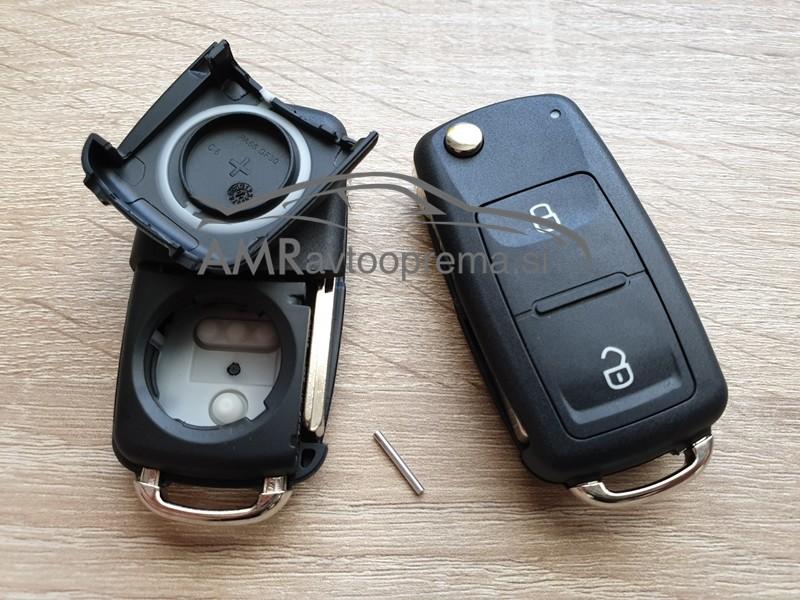 Ohišje za ključe Volkswagen z dvema gumboma od letnika 2010 naprej