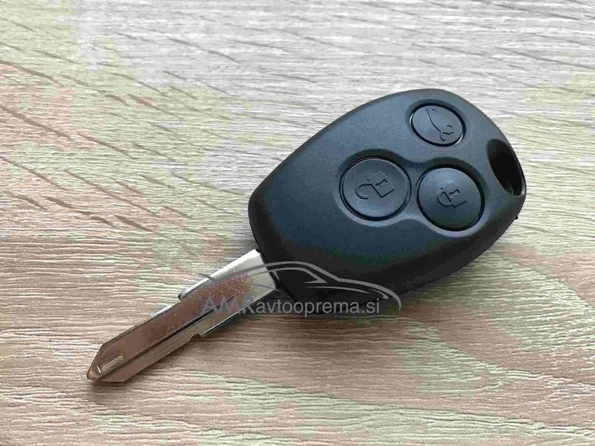 Ohišje za ključ Opel Vivaro in Movano s tremi gumbi