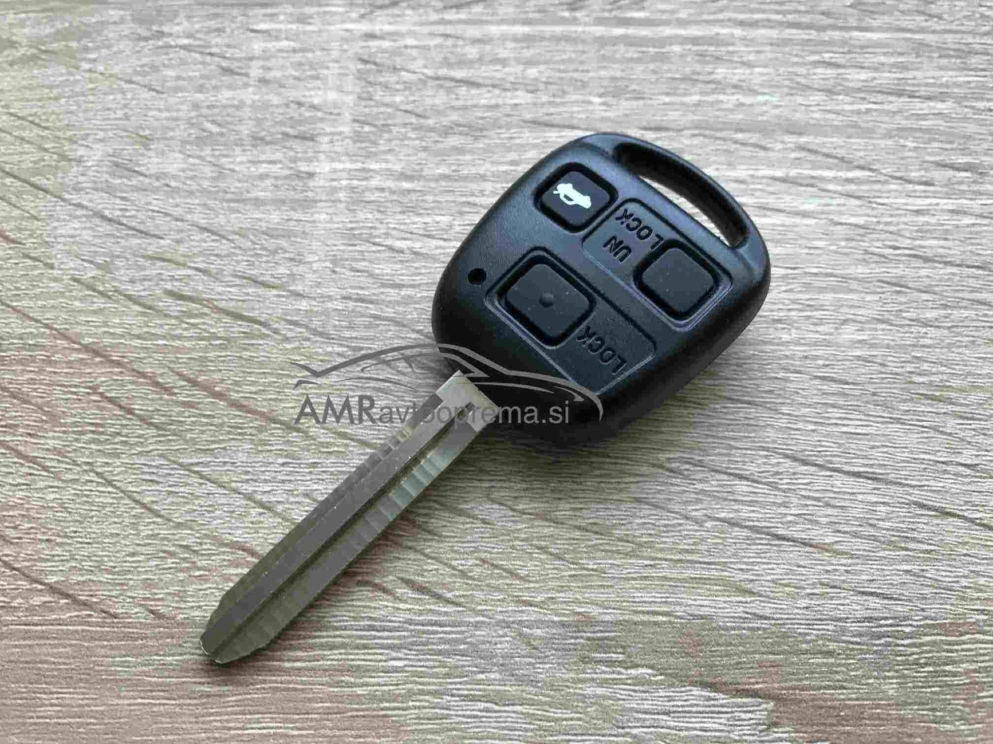 Ohišje za ključe Toyota s tremi gumbi