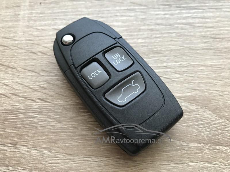 Ohišje za zložljive ključe Volvo s tremi gumbi