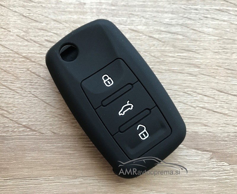 Silikonski ovitek za ključe Škoda s tremi gumbi