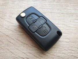 Ohišje za zložljive ključe Citroen s štirimi gumbi