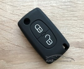 Silikonski ovitek za zložljive ključe Peugeot z dvema gumboma