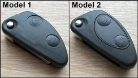Ohišje za zložljive ključe Alfa Romeo z dvema gumboma