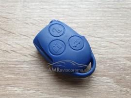 Ohišje za ključe Ford s tremi gumbi modre barve