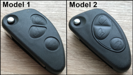 Ohišje za zložljive ključe Alfa Romeo s tremi gumbi