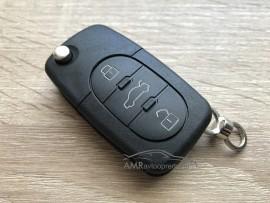 Ohišje za zložljive ključe Audi s tremi gumbi