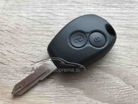 Ohišje za ključ Dacia z dvema gumboma