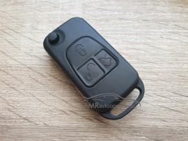 Ohišje za zložljive ključe Mercedes s tremi gumbi