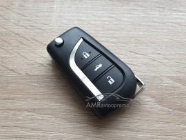 Ohišje za zložljive ključe Toyota s tremi gumbi