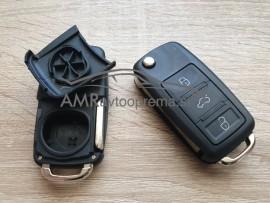 Ohišje za ključe s tremi gumbi za Volkswagen Sharan, Golf, Bora, Polo itd. (do letnika 2010)
