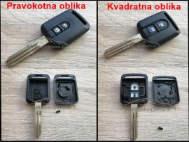 Ohišje za ključ Nissan z dvema gumboma